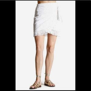 🍂Stone Cold Fox Hurley linen fringe wrap skirt
